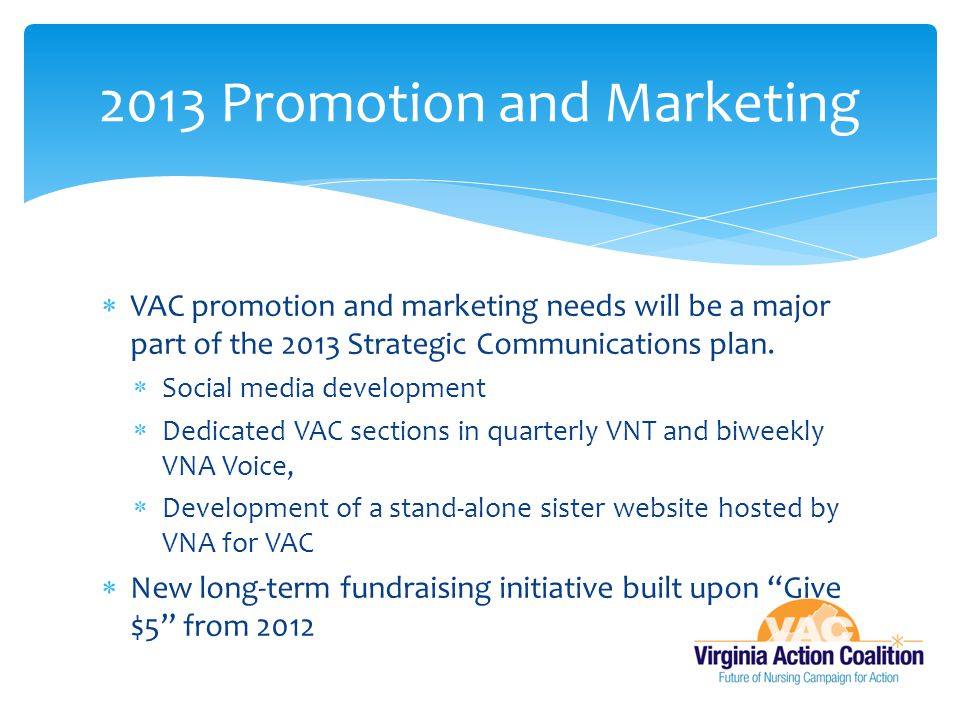 2013 Promotion and Marketing