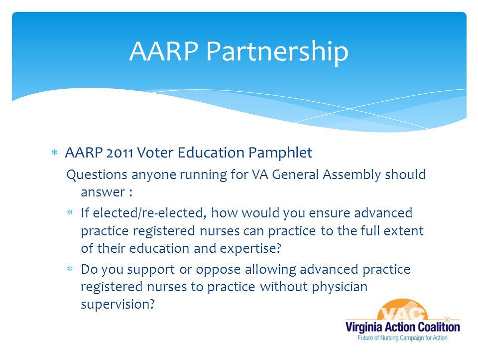 AARP Partnership AARP 2011 Voter Education Pamphlet