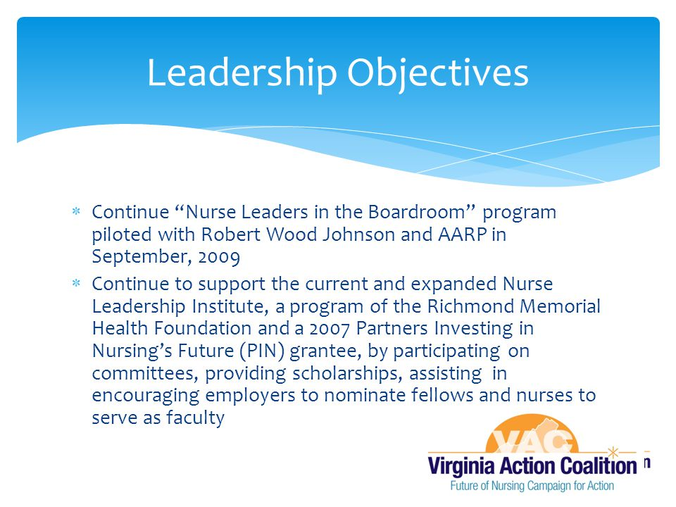 Leadership Objectives