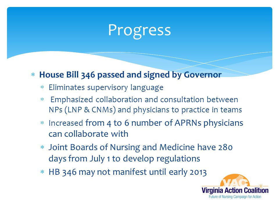 Progress House Bill 346 passed and signed by Governor