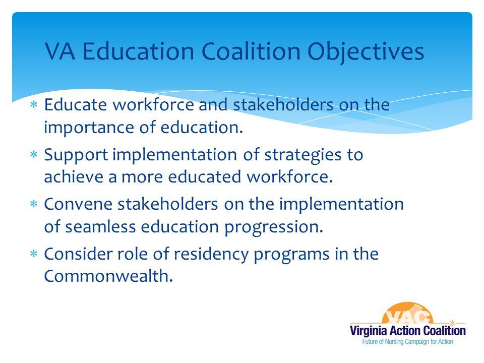 VA Education Coalition Objectives