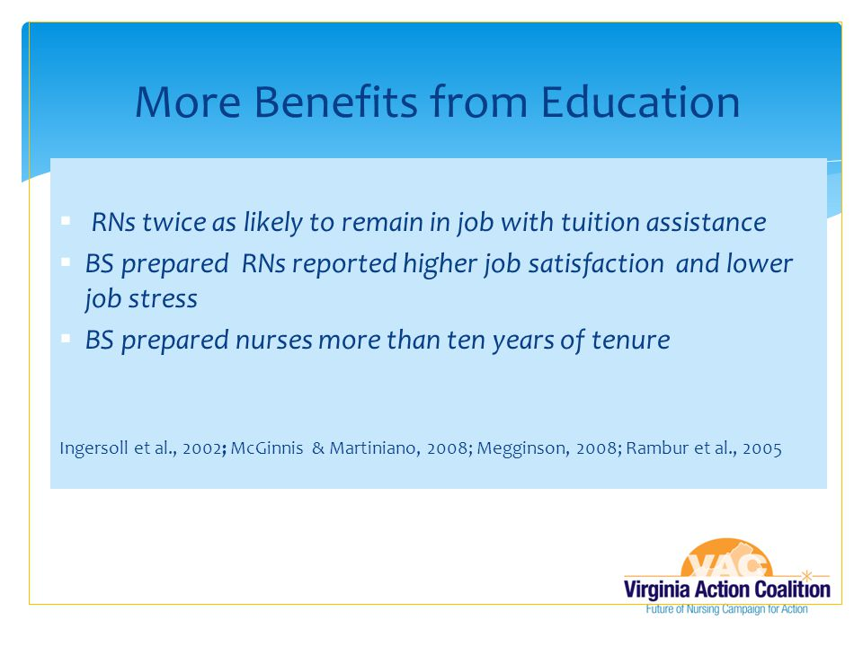 More Benefits from Education
