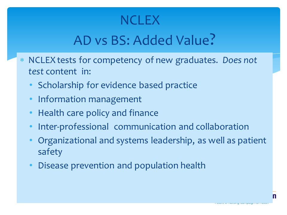 NCLEX AD vs BS: Added Value