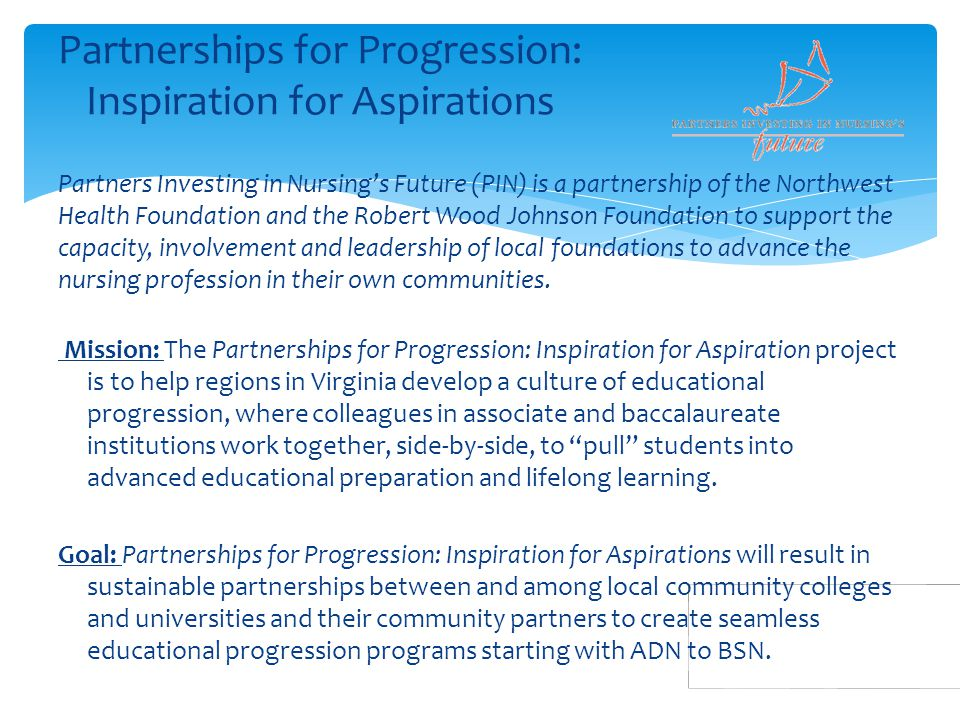 Partnerships for Progression: Inspiration for Aspirations