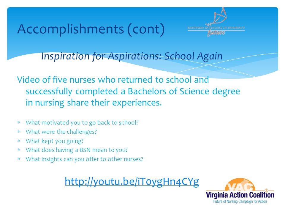 Accomplishments (cont)