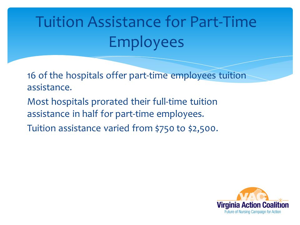 Tuition Assistance for Part-Time Employees