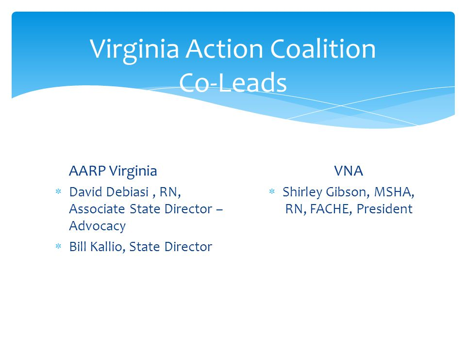 Virginia Action Coalition Co-Leads