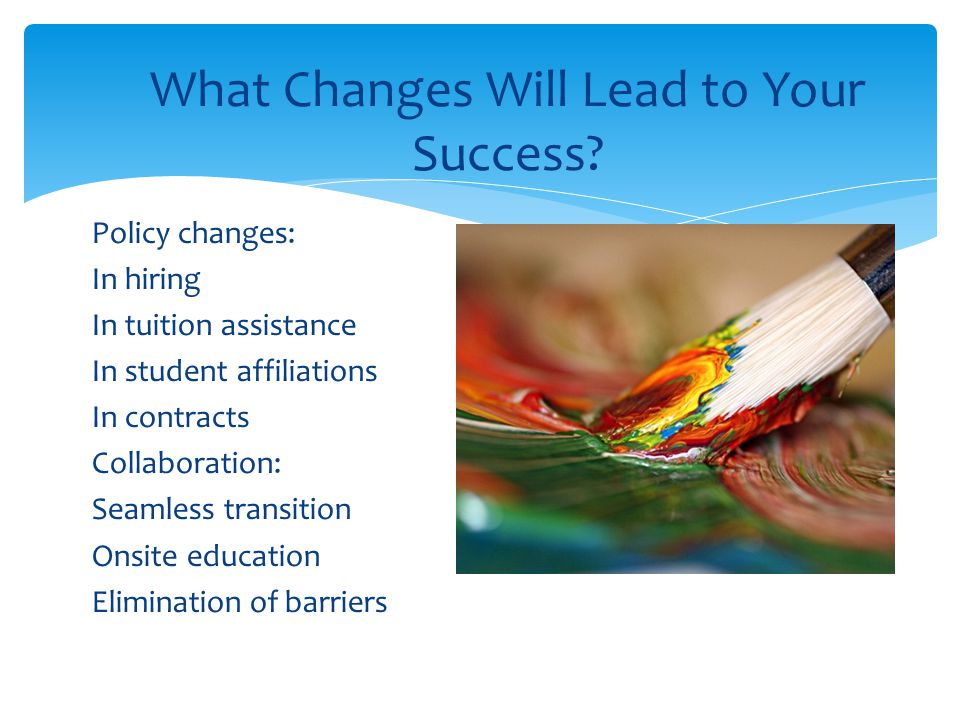 What Changes Will Lead to Your Success