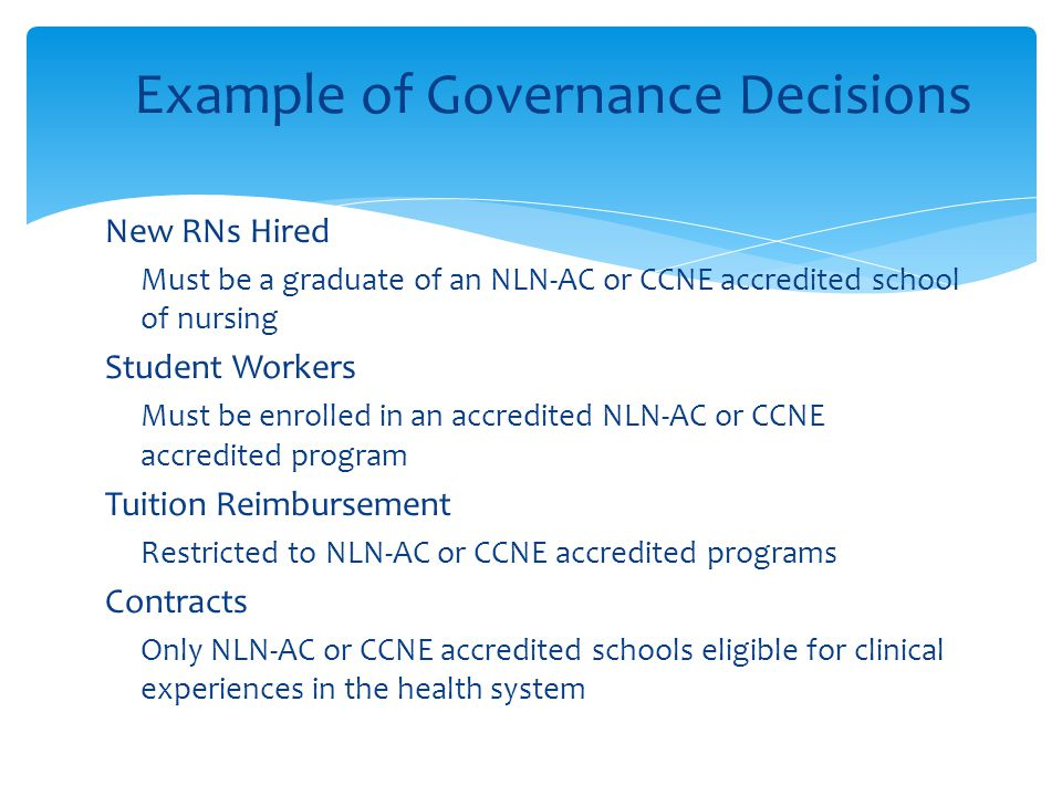 Example of Governance Decisions