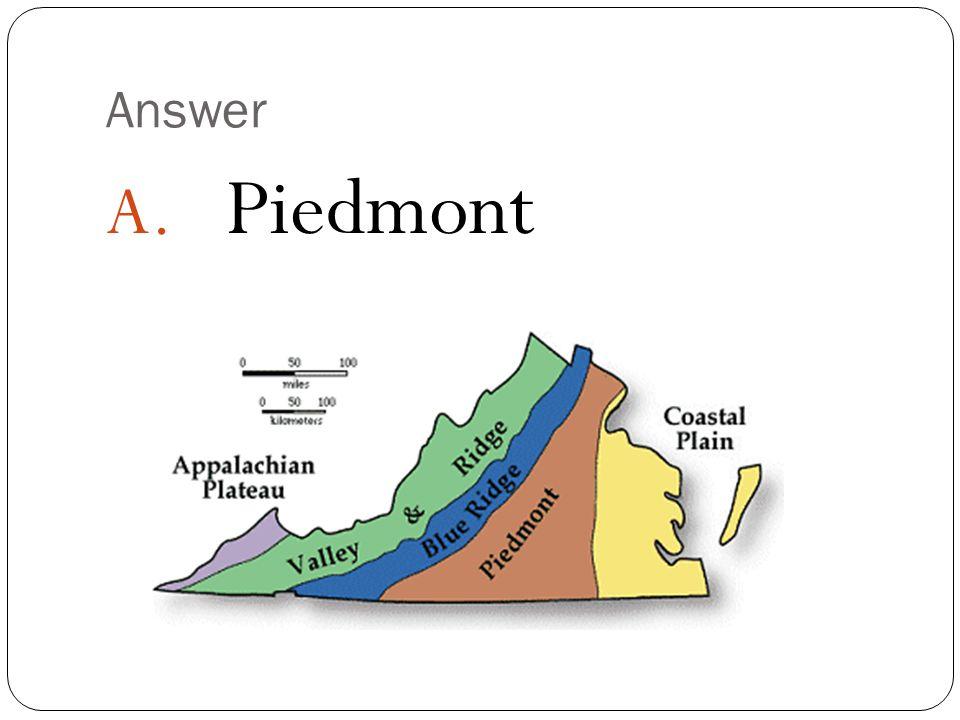 Answer Piedmont