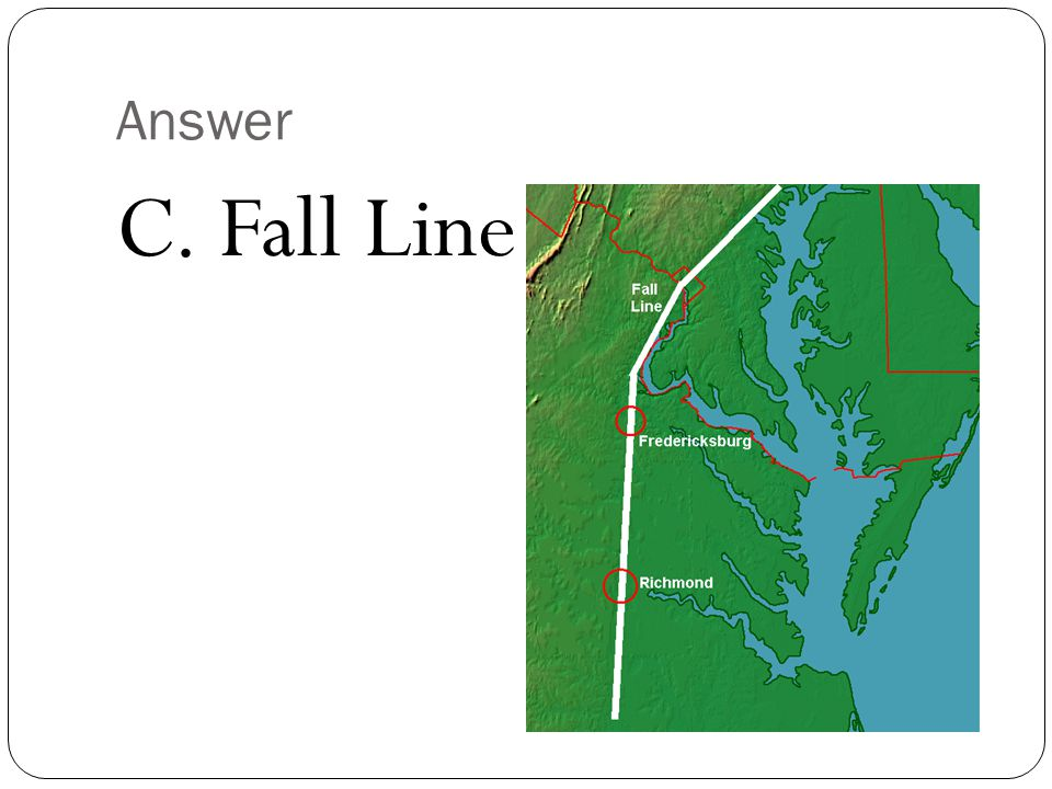 Answer C. Fall Line