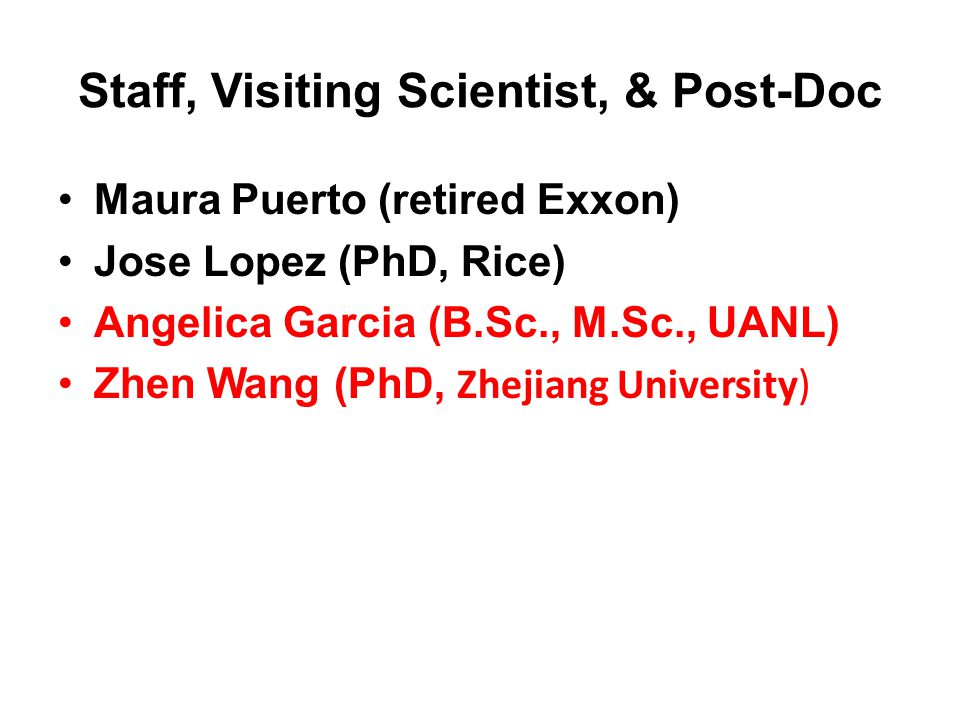 Staff, Visiting Scientist, & Post-Doc