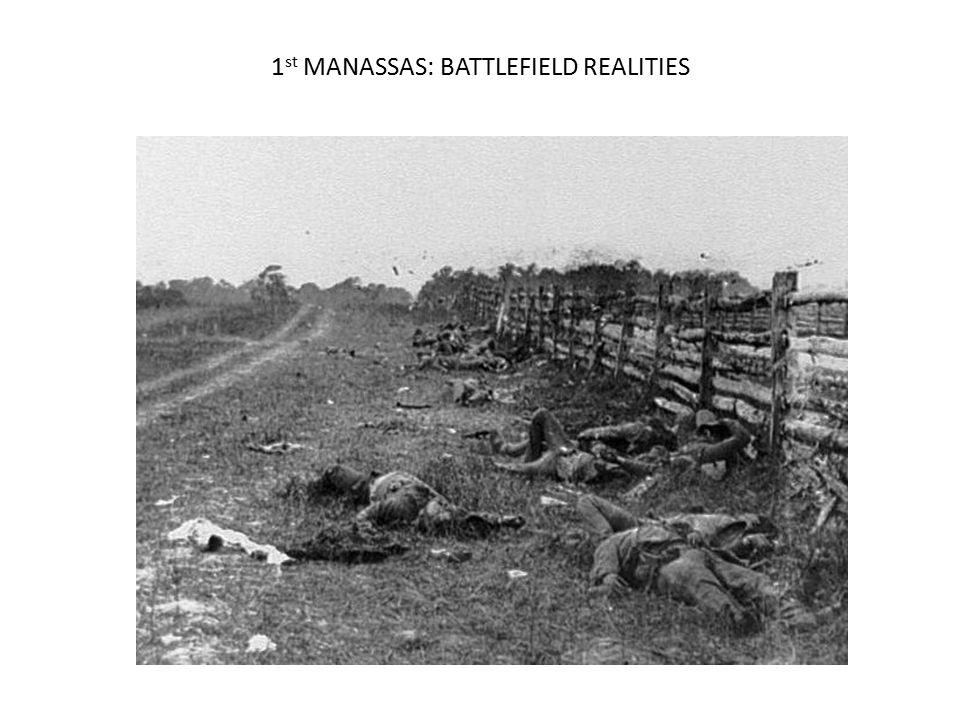 1st MANASSAS: BATTLEFIELD REALITIES