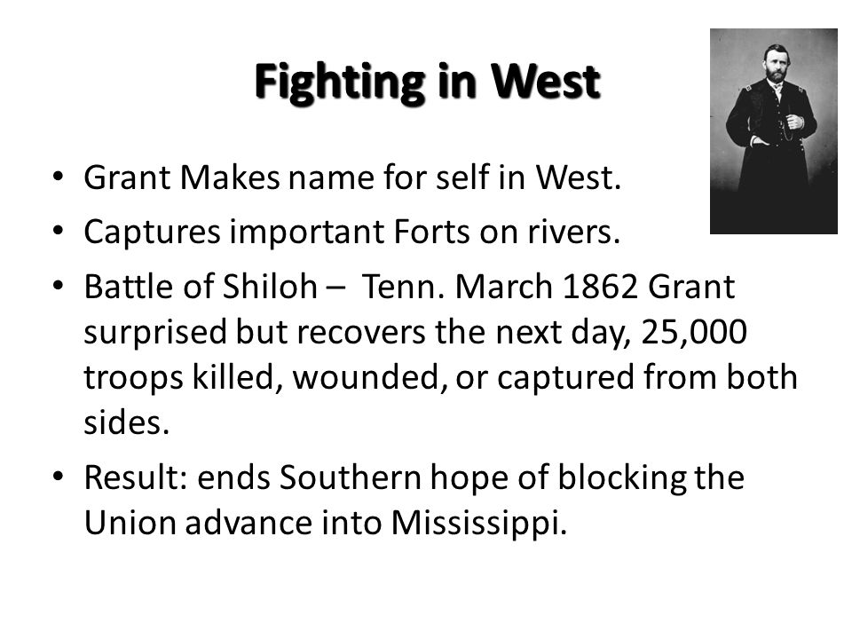 Fighting in West Grant Makes name for self in West.