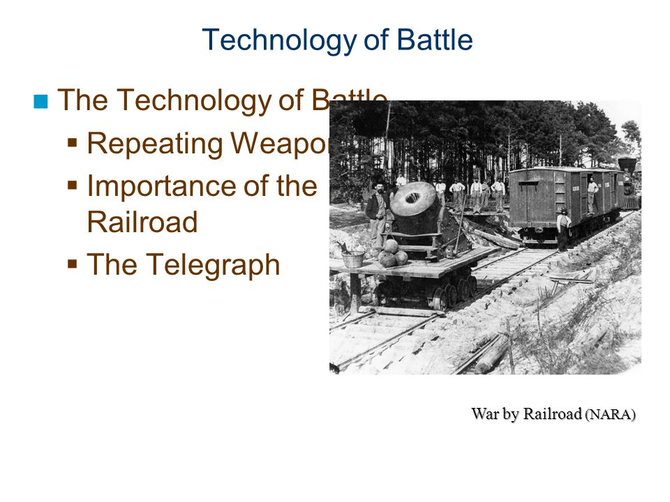 The Technology of Battle Repeating Weapons Importance of the Railroad