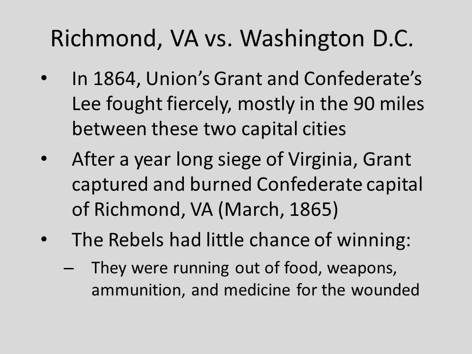Richmond, VA vs. Washington D.C.