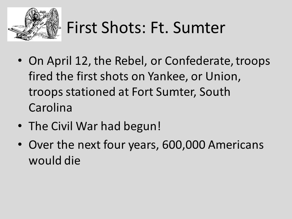 First Shots: Ft. Sumter