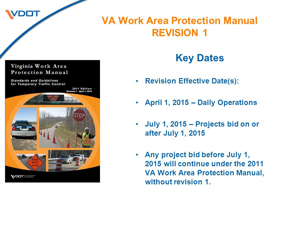 VA Work Area Protection Manual REVISION 1