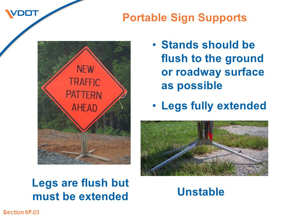 Portable Sign Supports