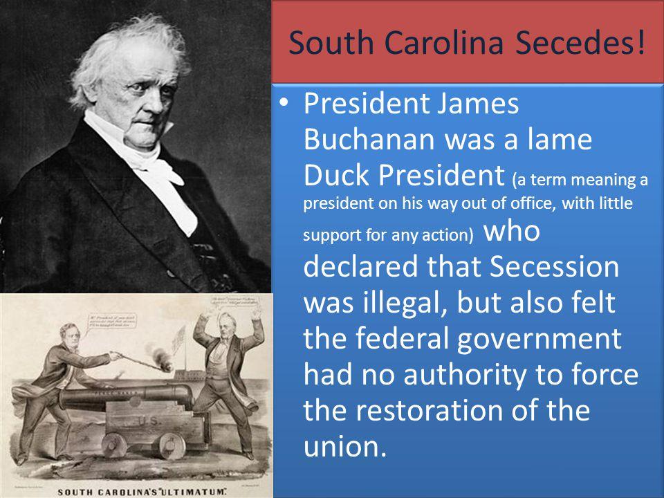 South Carolina Secedes!