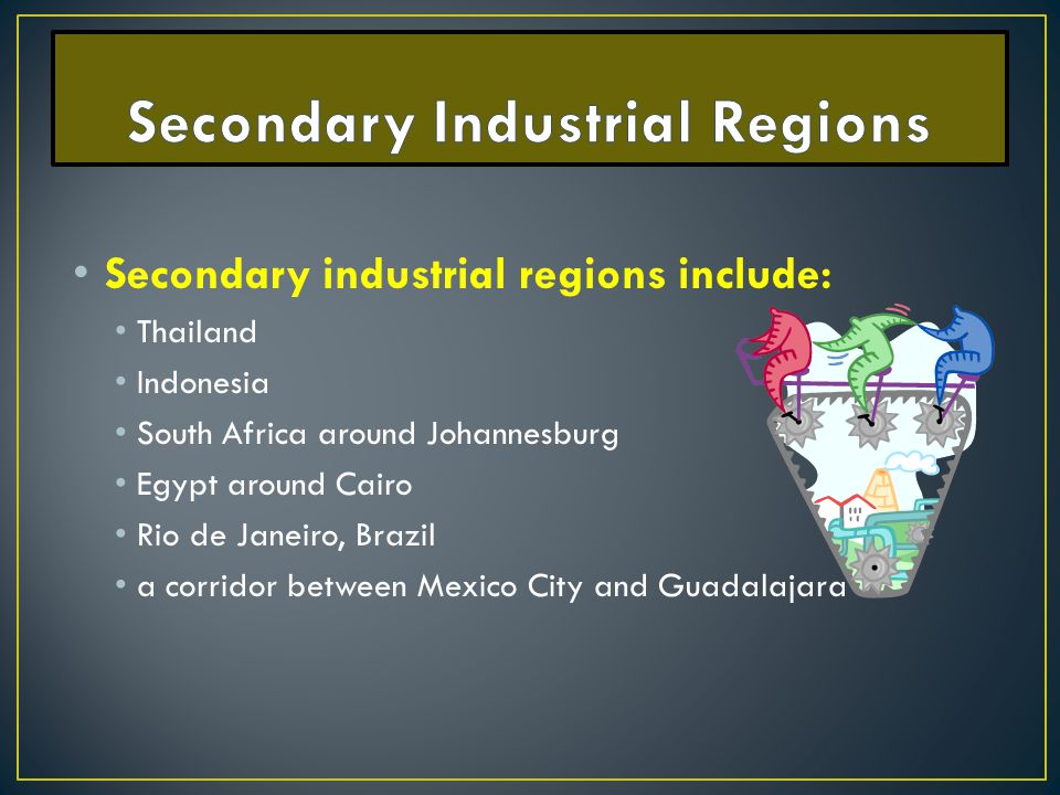 Secondary Industrial Regions
