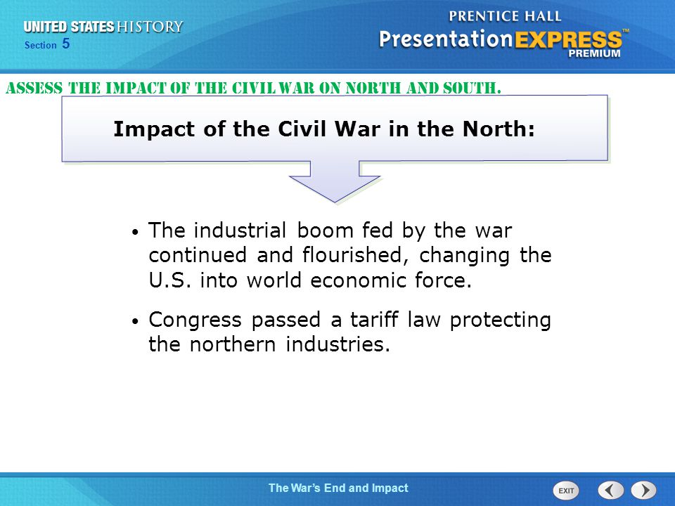 Impact of the Civil War in the North: