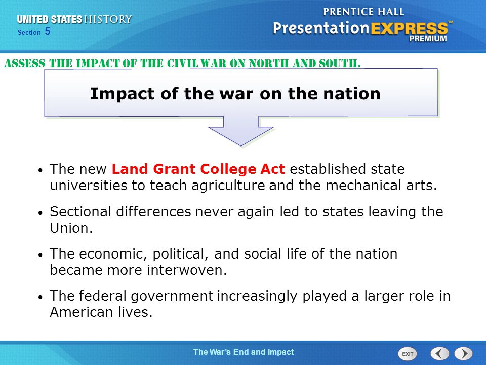 Impact of the war on the nation