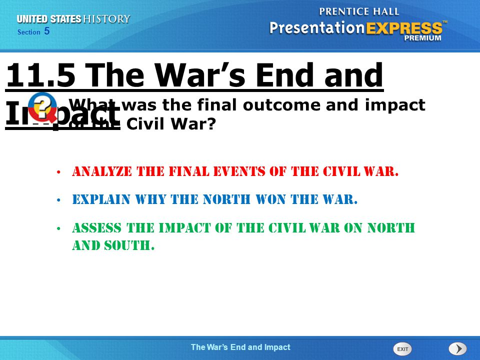 11.5 The War's End and Impact