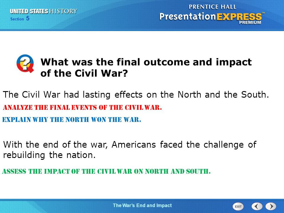 What was the final outcome and impact of the Civil War