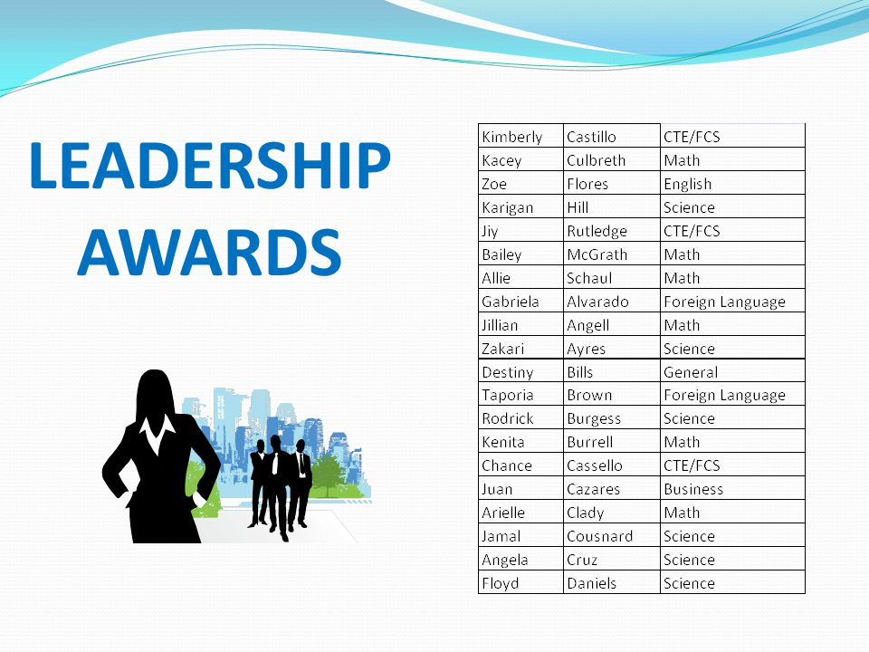 LEADERSHIP AWARDS