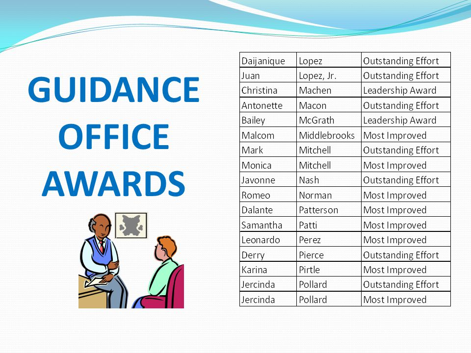 GUIDANCE OFFICE AWARDS