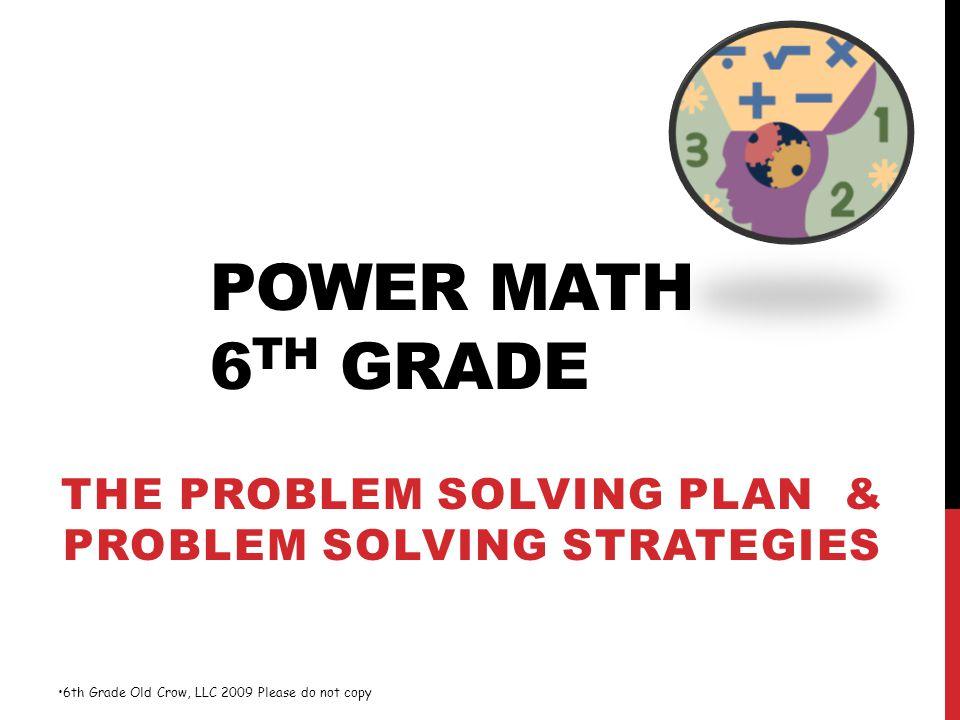 The Problem Solving Plan & Problem Solving Strategies