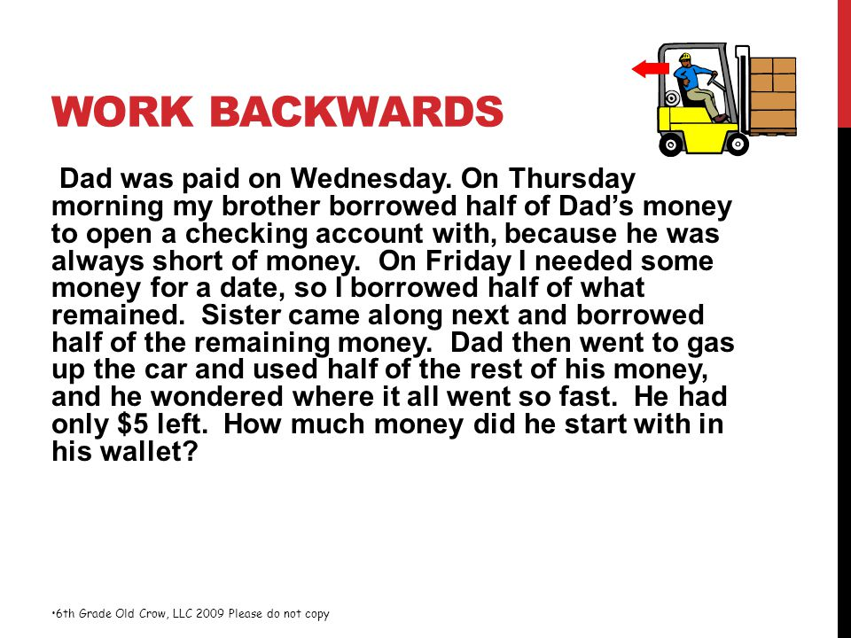 Work Backwards