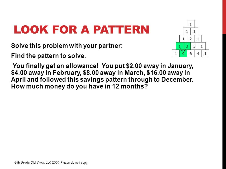 Look for a Pattern