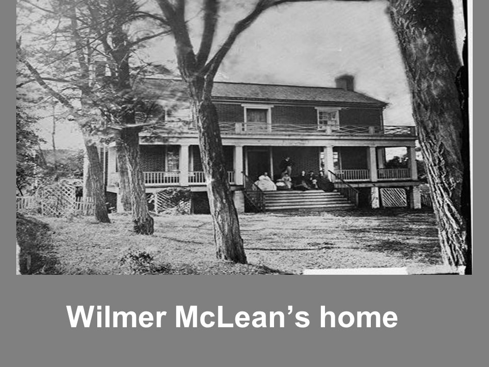Wilmer McLean's home