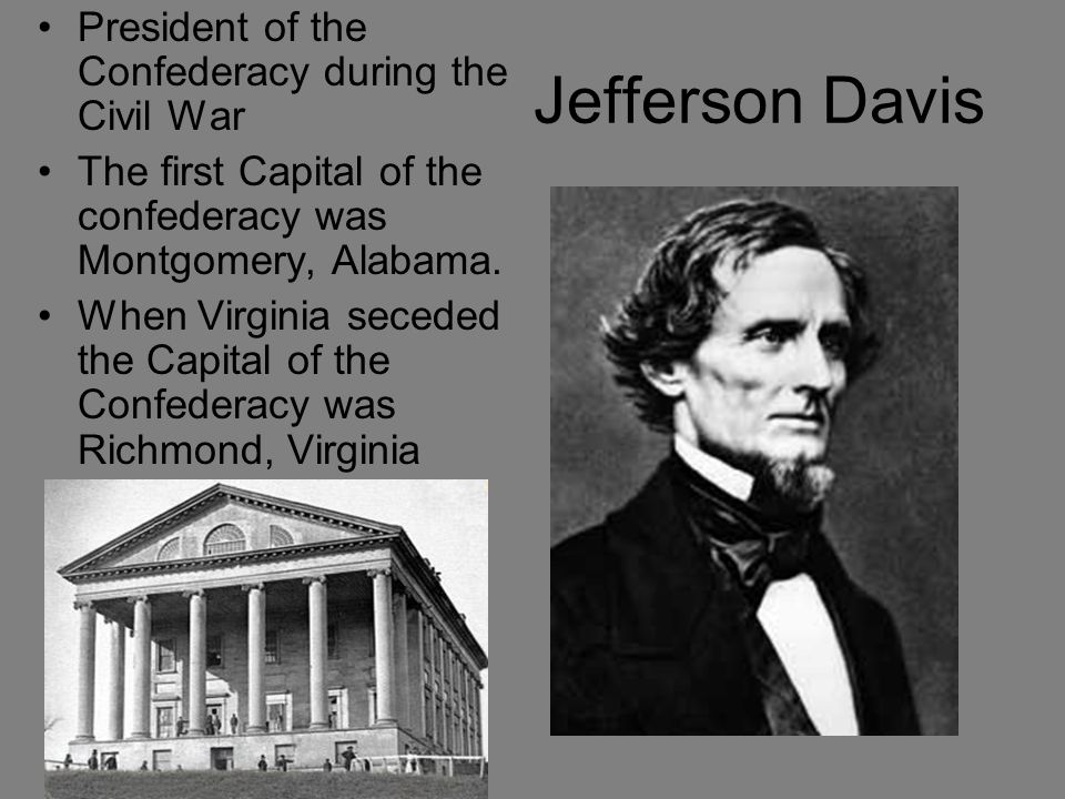 Jefferson Davis President of the Confederacy during the Civil War