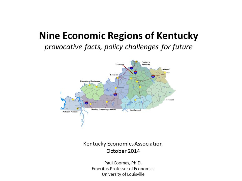 Nine Economic Regions of Kentucky
