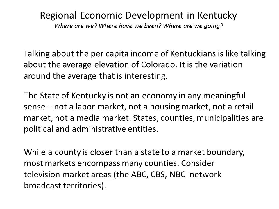 Regional Economic Development in Kentucky