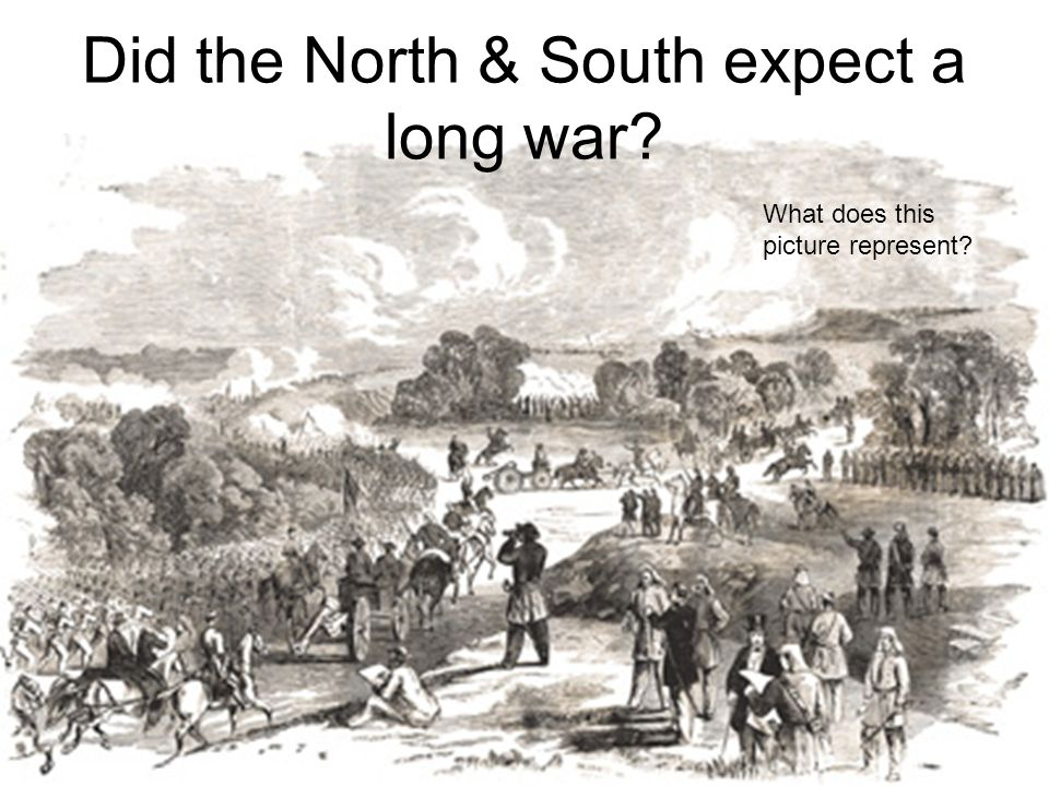 Did the North & South expect a long war
