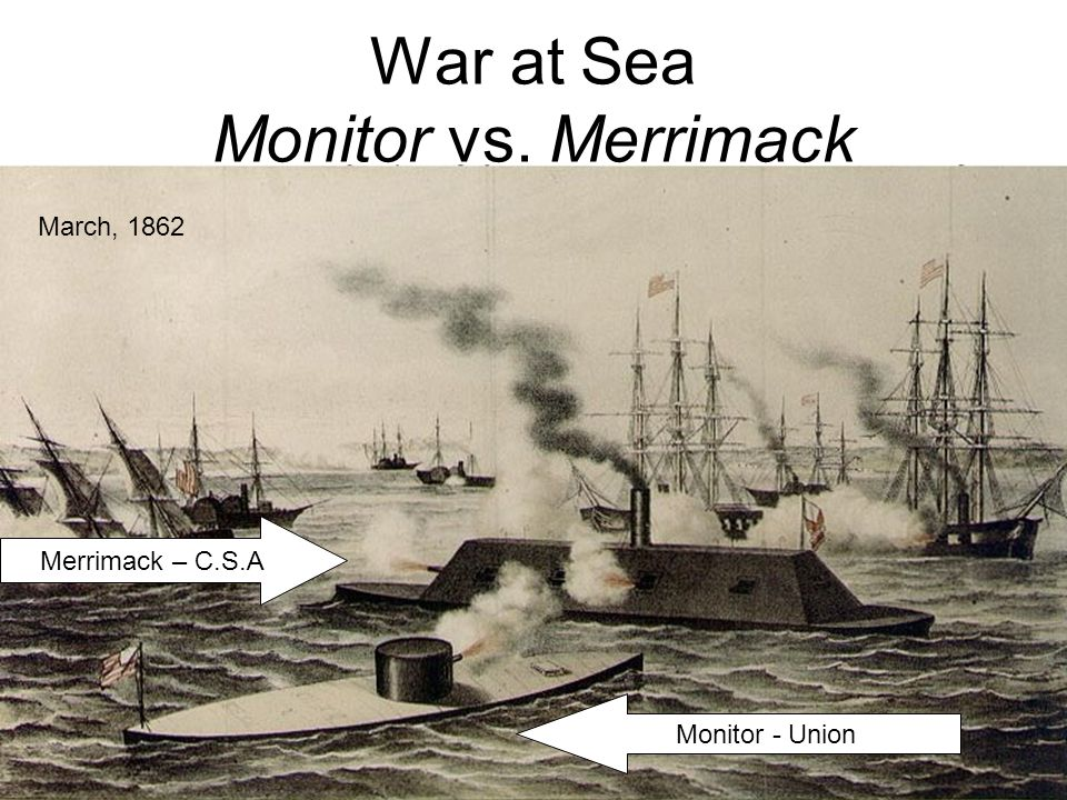 War at Sea Monitor vs. Merrimack