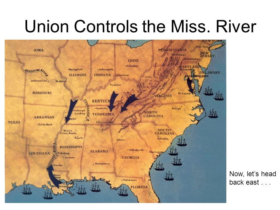 Union Controls the Miss. River
