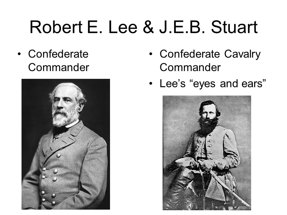 Robert E. Lee & J.E.B. Stuart