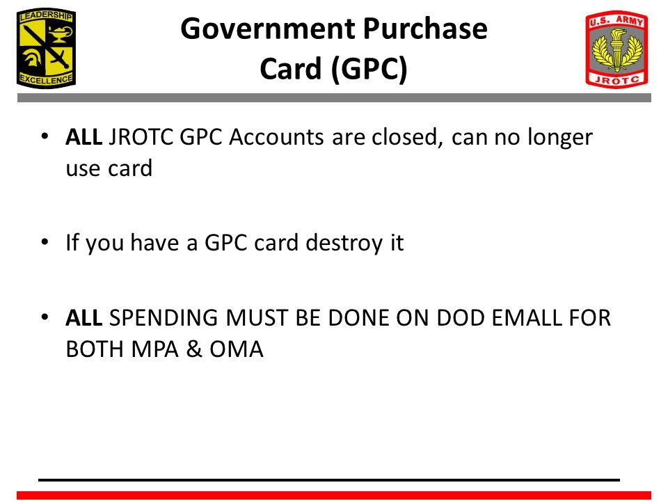 Government Purchase Card (GPC)