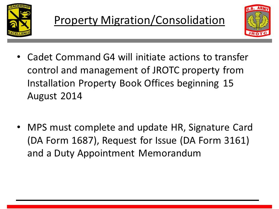 Property Migration/Consolidation