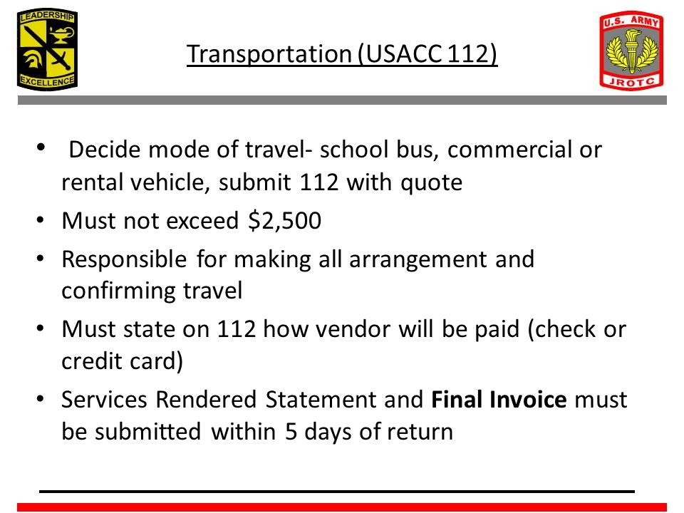 Transportation (USACC 112)