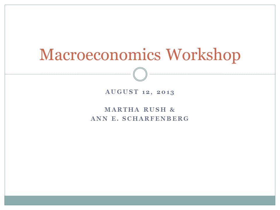 Macroeconomics Workshop