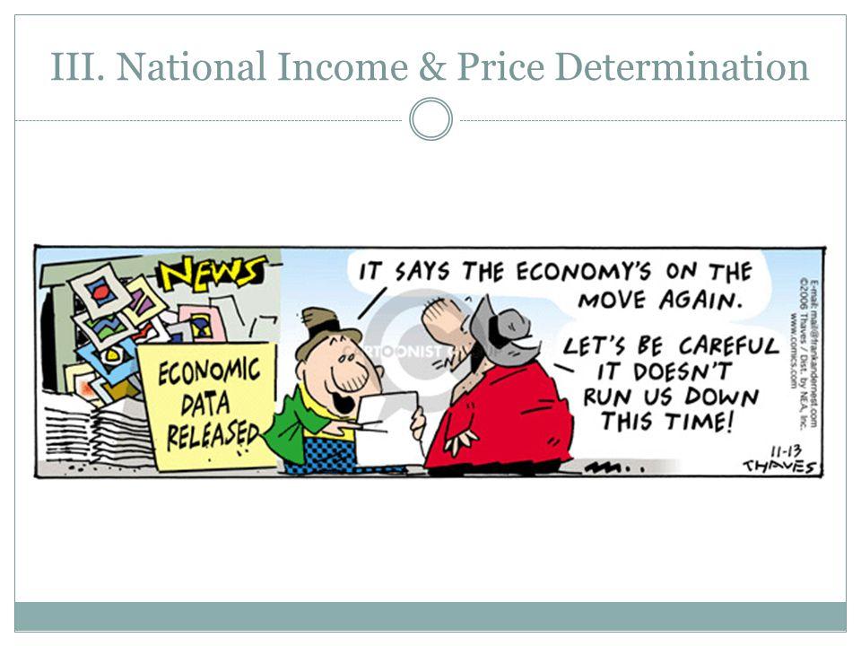 III. National Income & Price Determination
