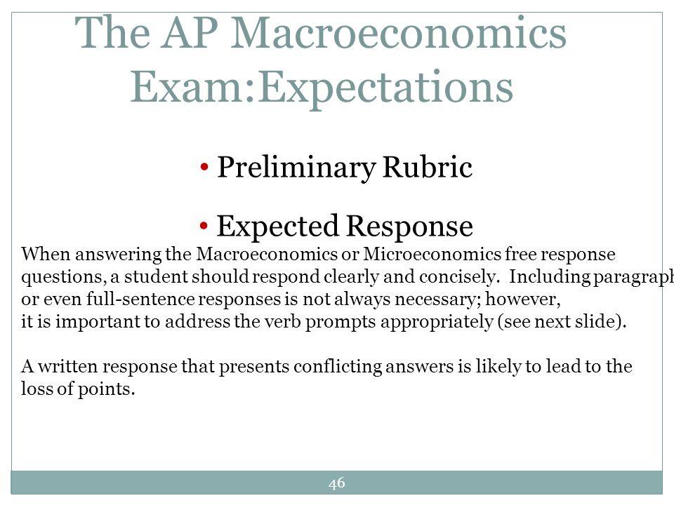 The AP Macroeconomics Exam:Expectations