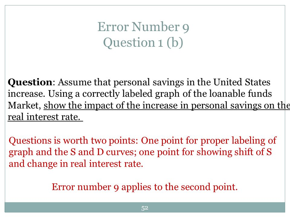 Error Number 9 Question 1 (b)