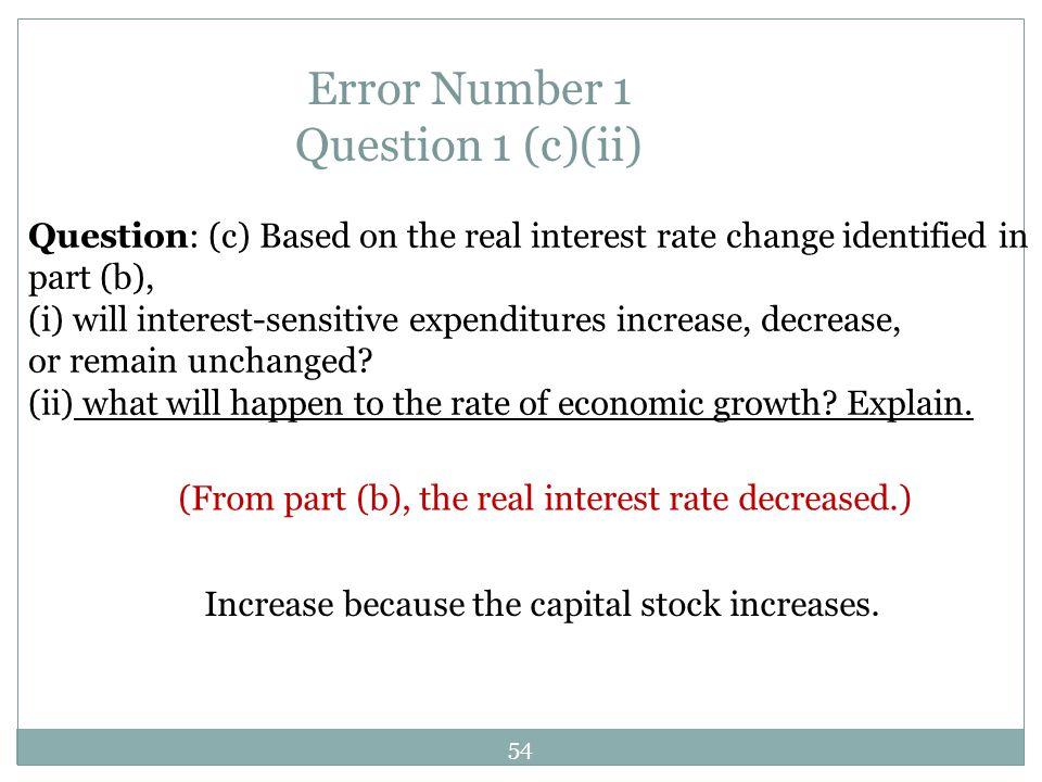 Error Number 1 Question 1 (c)(ii)